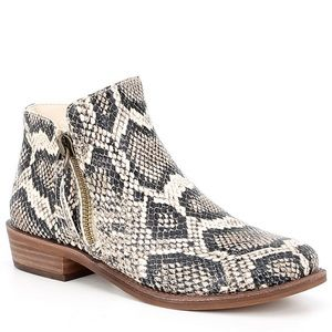 Gianni Bini A-Lister Snake Print Leather Booties